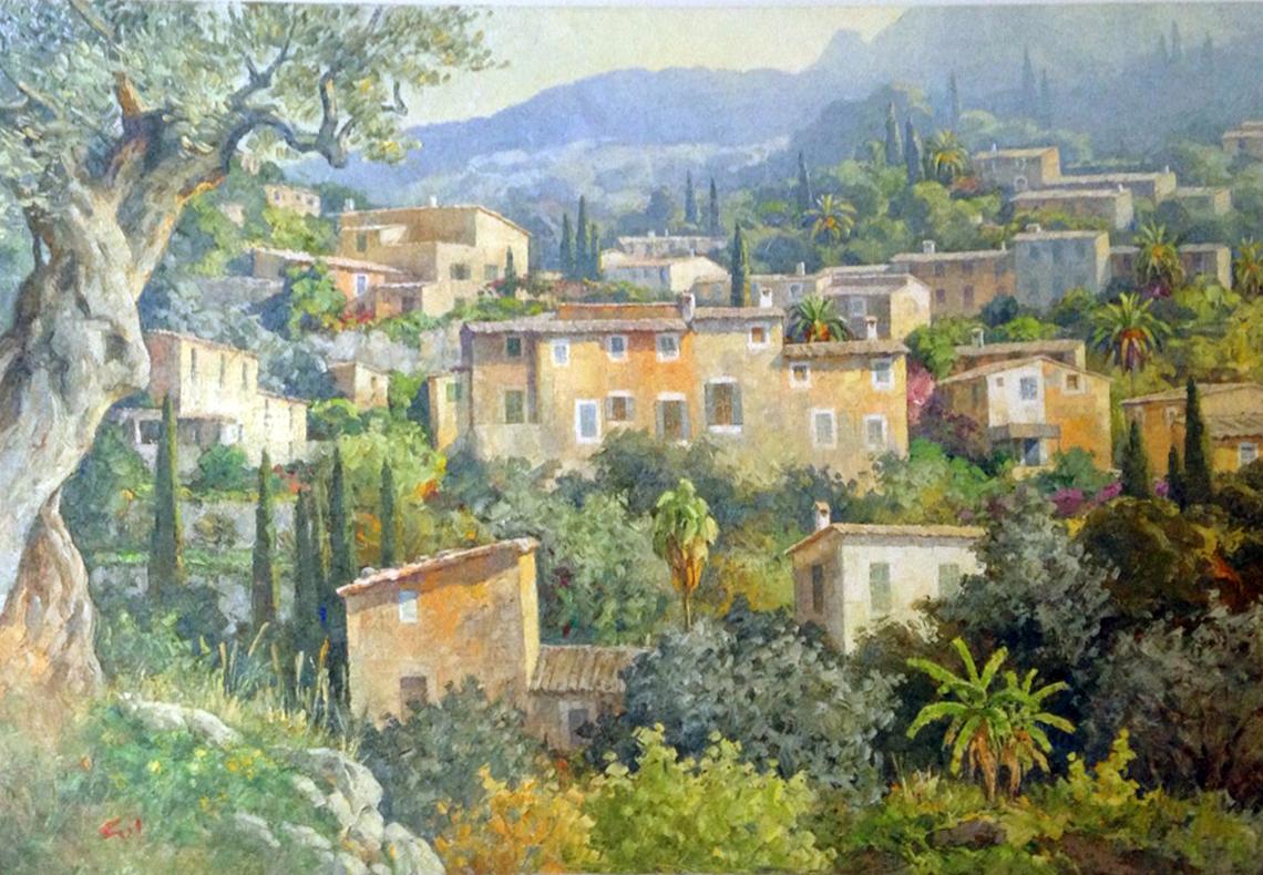 Joan Riera Ferrari, Paisaje de Deiá, Mallorca en pintura, paisajes de Mallorca