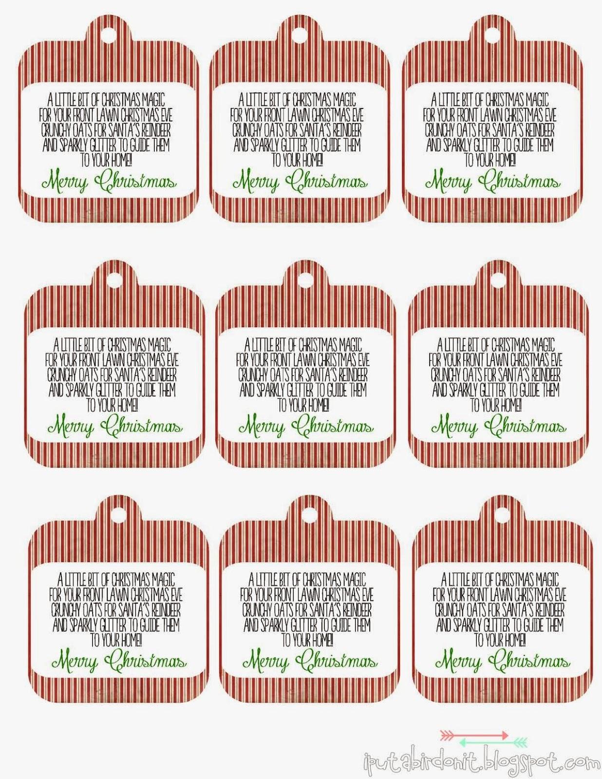 Free Download Reindeer Food Label Template Programs
