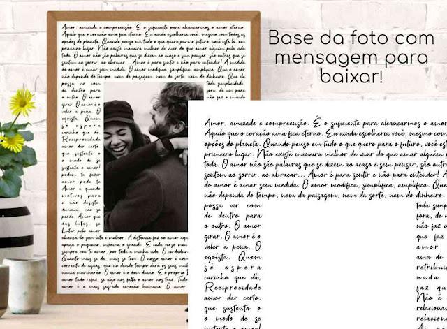 Moldura para foto com mensagem de amor para imprimir