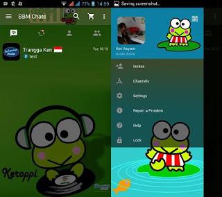 Download Kumpulan BBM MOD Karakter Tokoh Kartun Terlengkap keroppi 1