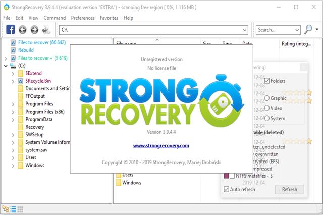 تنزيل برنامج سترونج ريكفري لاسترجاع الملفات المحذوفة
