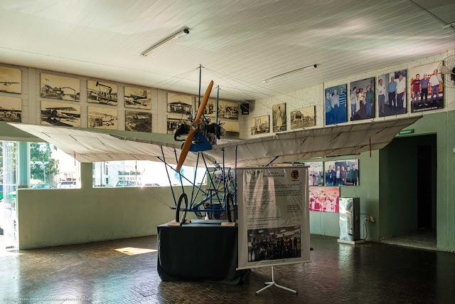 Réplica do avião Demoiselle nº 22, de Santos Dumont