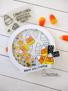 Candy Corn Shaker a project by Diane Morales | Candy Corn Stamp Set by Newton's Nook Designs