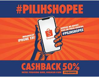 Ayo Dapatkan iPhone XR Gratis Dengan Repost #PILIHSHOPEE