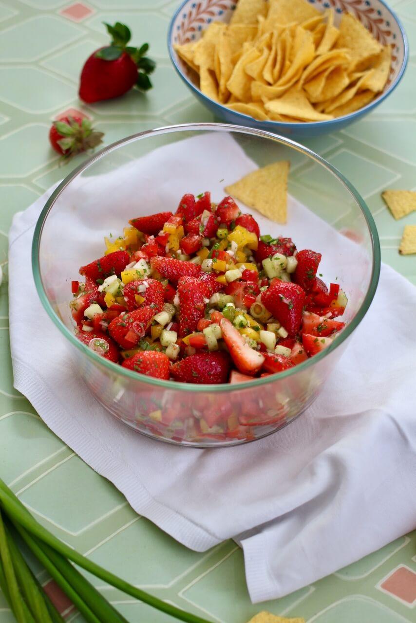 Pikante Erdbeersalsa
