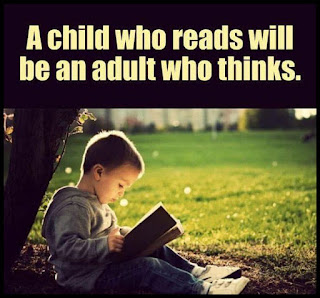 Staying Alive is Not Enough :A child who reads will be an adult who thinks.
