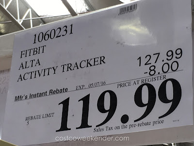 Deal for the Fitbit Alta Fitness Wristband Activity Tracker at Costco