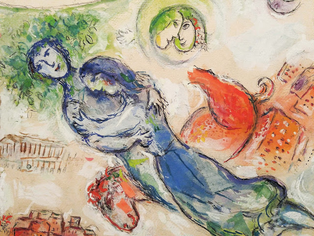 chagall, dessin, montreal, eau, amoureux, chagall-amoureux,emmanuelle-ricard, blogue,anthracite-aime