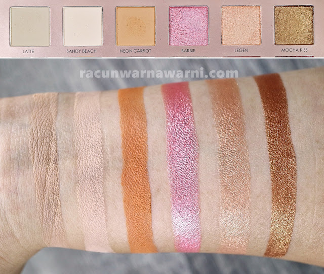 Swatch Focallure 30 Eyeshadow Palette