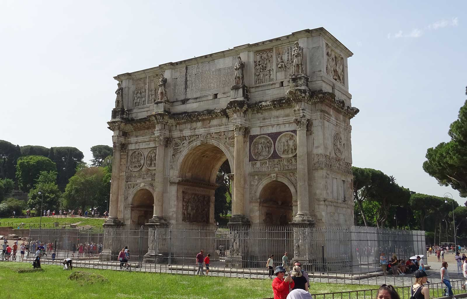 Voyage Italie Rome Arc de Constantin