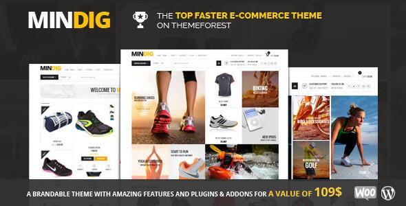 Free Download Mindig Flat & Multipurpose eCommerce WordPress Theme