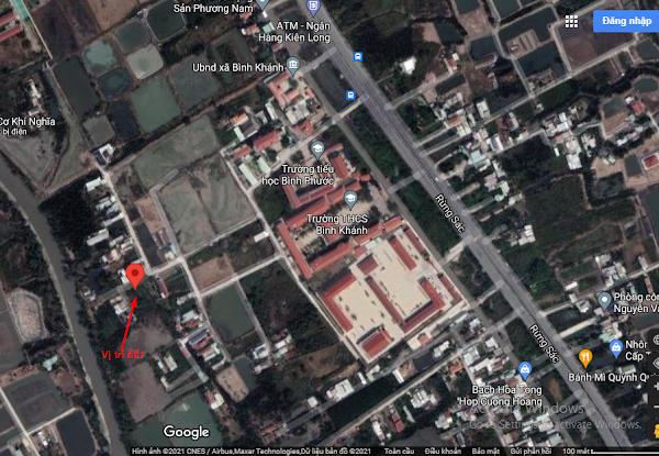 Bán 1210m2 đất sau lưng trường THPT Bình Khánh