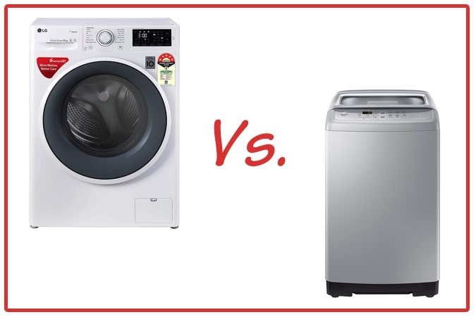 LG FHT1006ZNW (left) and Samsung WA70A4002GS/TL (right) Washing Machine Comparison.