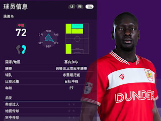 PES 2020 Faces Famara Diedhiou by Obeymyself