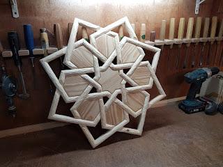 Selçuklu yıldızı tavan göbeği