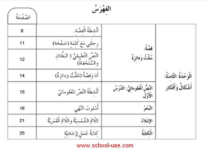 كتاب النشاط لغة عربية الصف الثانى فصل ثالث 2020 الامارات