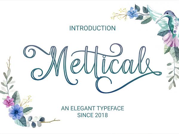 Mettical Decorative Script Font Free Download