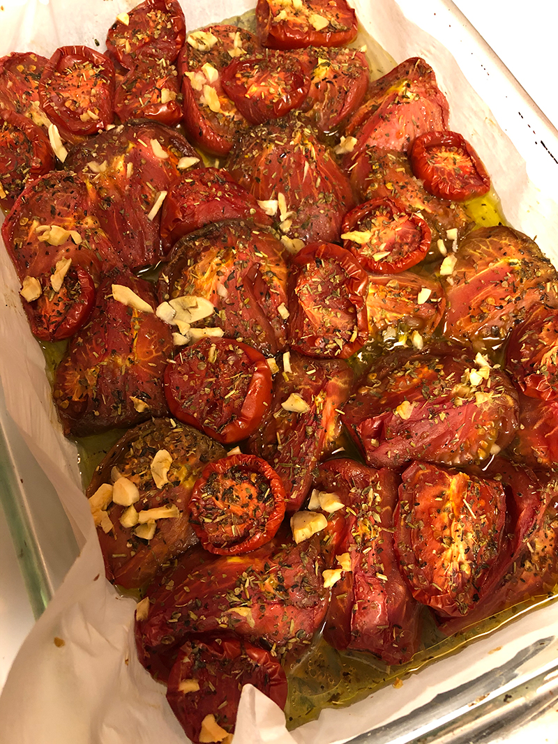 Oven Roasted Heirloom Tomatoes