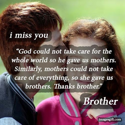 miss you status for brother from sister