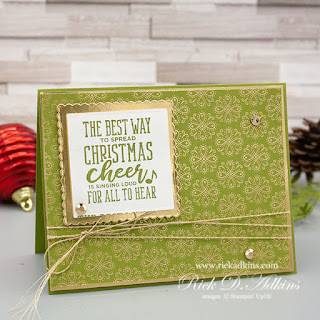 Learn more about my use of unexpected designer series paper choice on my Christmas Means More Card that will surely spread some Christmas Cheer!