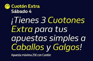 william hill 3 CUOTONES EXTRA Caballos y Galgos 4-7-2020