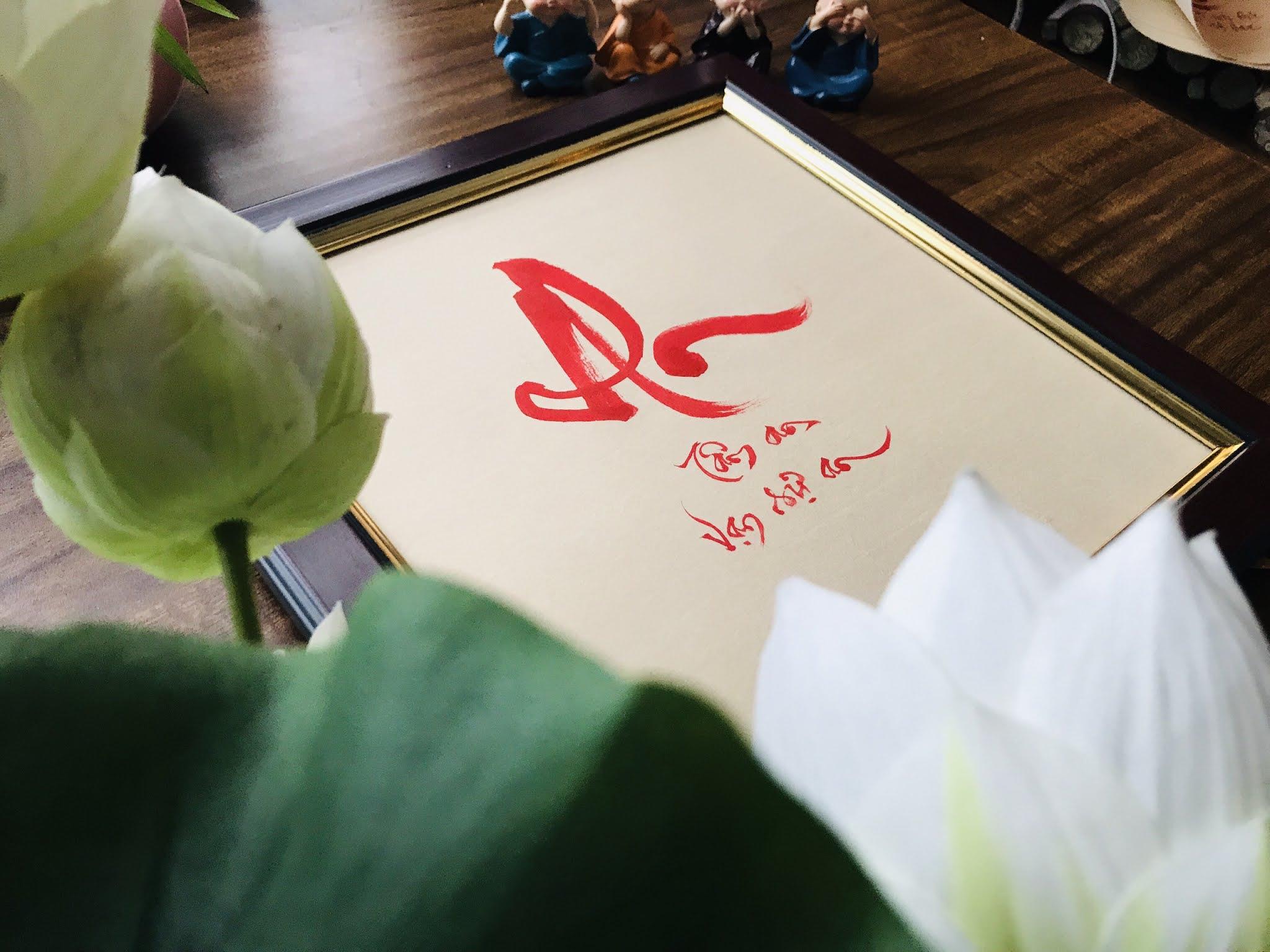 Tranh thư pháp đẹp tại Hà Nội