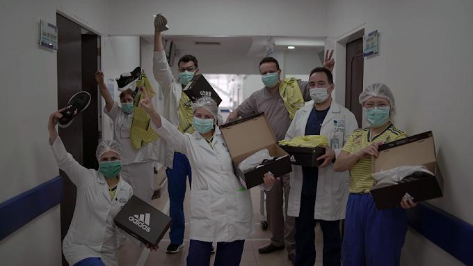 Adidas y Federación Colombina de Fútbol donan 1.000 pares de tenis a personal médico que atiende la emergencia del Covid-19