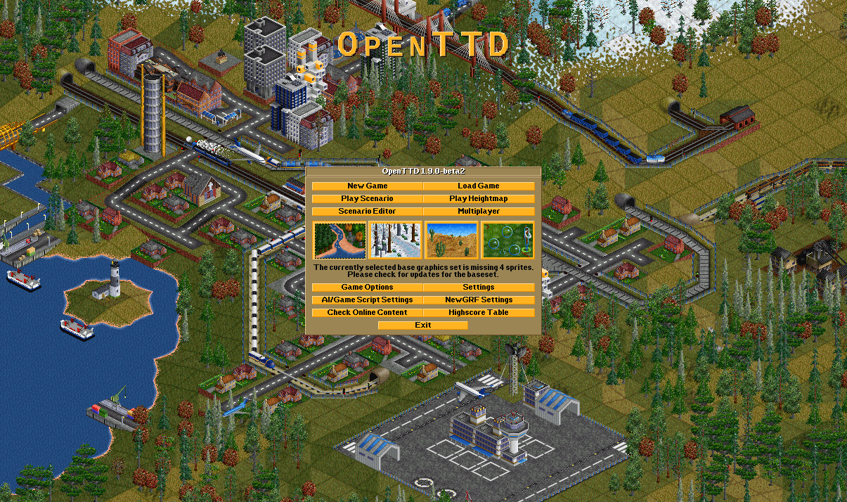 OpenTTD 1.9.3 - Open Source Transport Tycoon Deluxe gets a new update