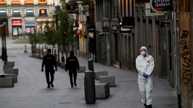 Η χειρότερη μέρα και για την Ισπανία με 832 νεκρούς σε ένα 24ωρο