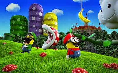 Los Minions sacan sus disfraces de Halloween: Mario y Luigi