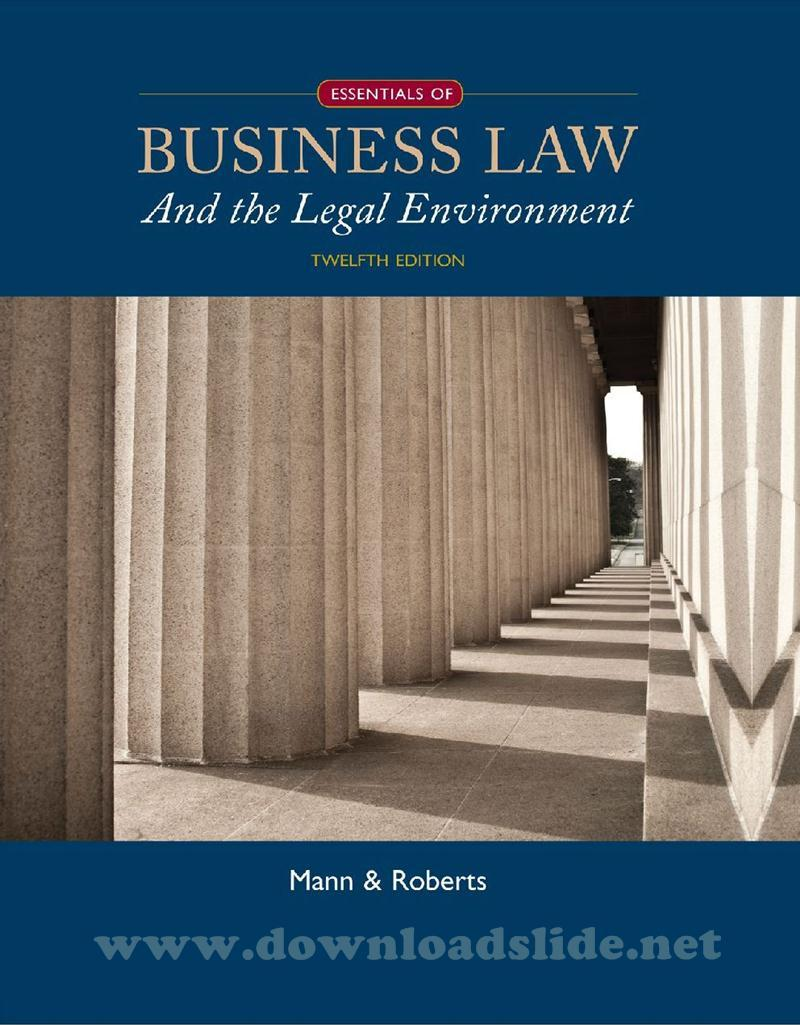 Legal environment of business ebook array ebook essentials of business law and the legal environment 12th rh downloadslide net fandeluxe Choice Image