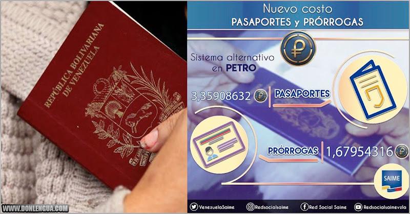 DOSIS DE PROGRE | Régimen aumenta el precio de los pasaportes en 150%