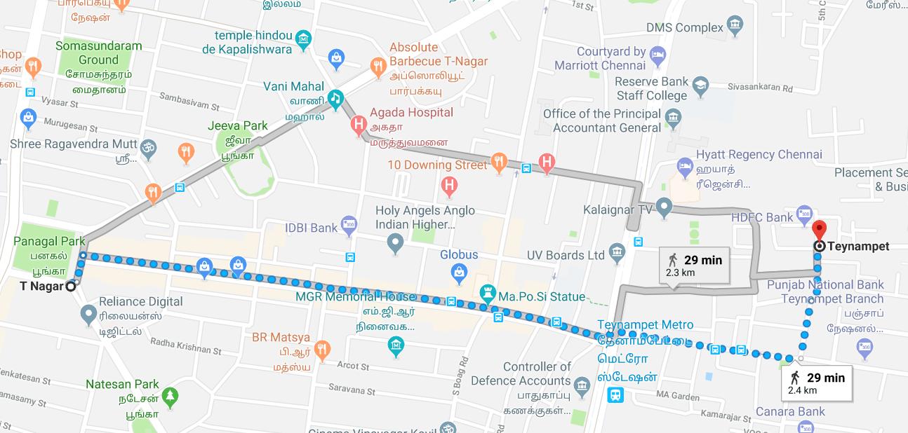 chennai t nagar map T Nagar Teynampet Share Auto Routes Chennai Share Auto chennai t nagar map