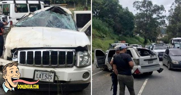 Secuestradores se chocaron en la Francisco Fajardo durante una persecución