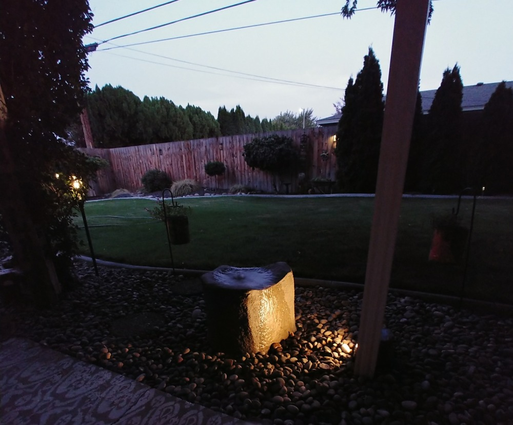 nighttime fountain