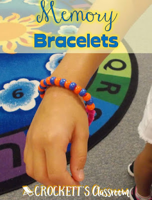 Memory Bracelets, a great activity to relive and collect memories from the school year.