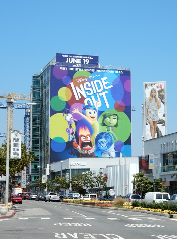 Giant Disney Pixar Inside Out billboard Sunset Strip