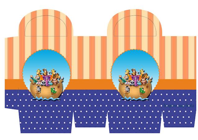 Fiesta de Arca de Noé: Cajas Gratis para Fiestas.