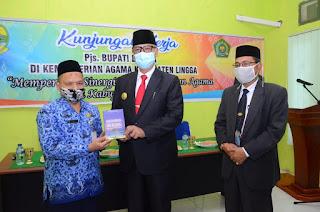 Pjs Bupati Lingga Bersilaturahmi dengan Keluarga Besar Kementerian Agama,ini yang disampaikannya