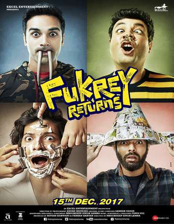 Fukrey Returns 2017 Hindi 200MB DTHRip HEVC 480p