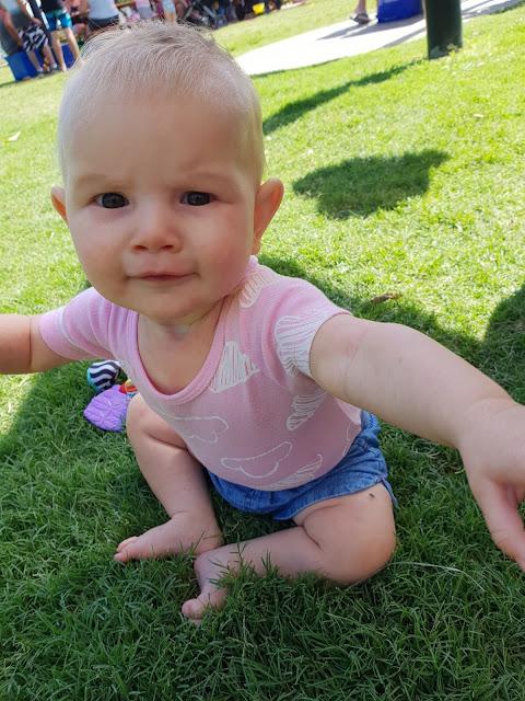 Baby girl at park