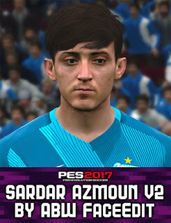PES 2017 Faces Sardar Azmoun by ABW_FaceEdit