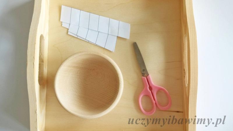Cięcie nożyczkami - Montessori