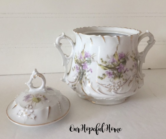 C.T.Germany floral sugar bowl