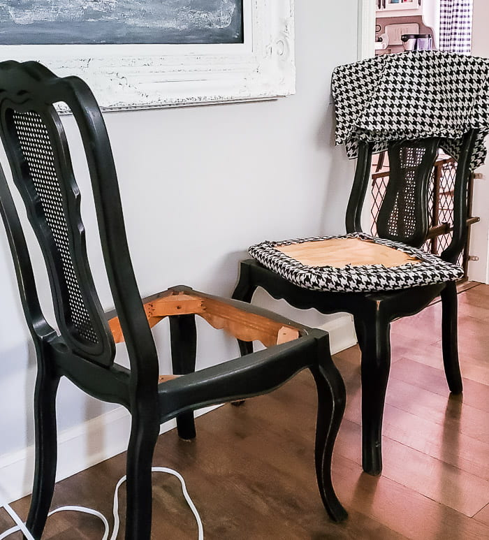 dining chairs with seats removed