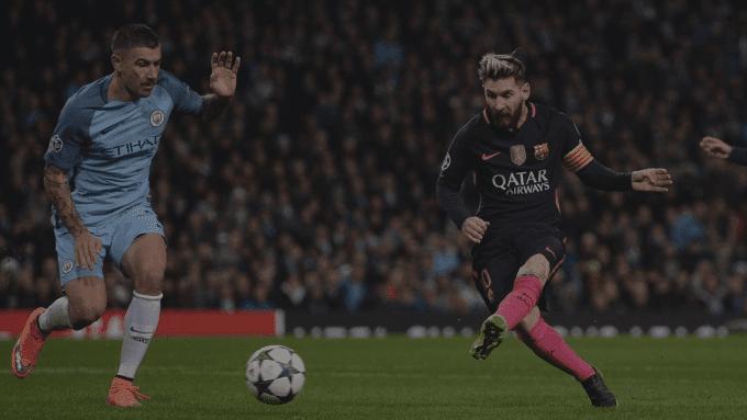 Idnfotbal - Lumbung Goal Lionel Messi ke Gawang Manchester City