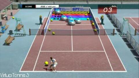 virtua tennis 3 psp game minigame mode
