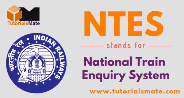 NTES Full Form