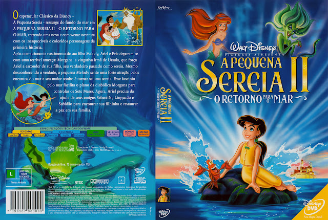 Capa DVD A PEQUENA SEREIA II O RETORNO PARA O MAR