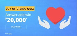 Amazon Joy Of Giving Quiz Answer - Win Rs.20000